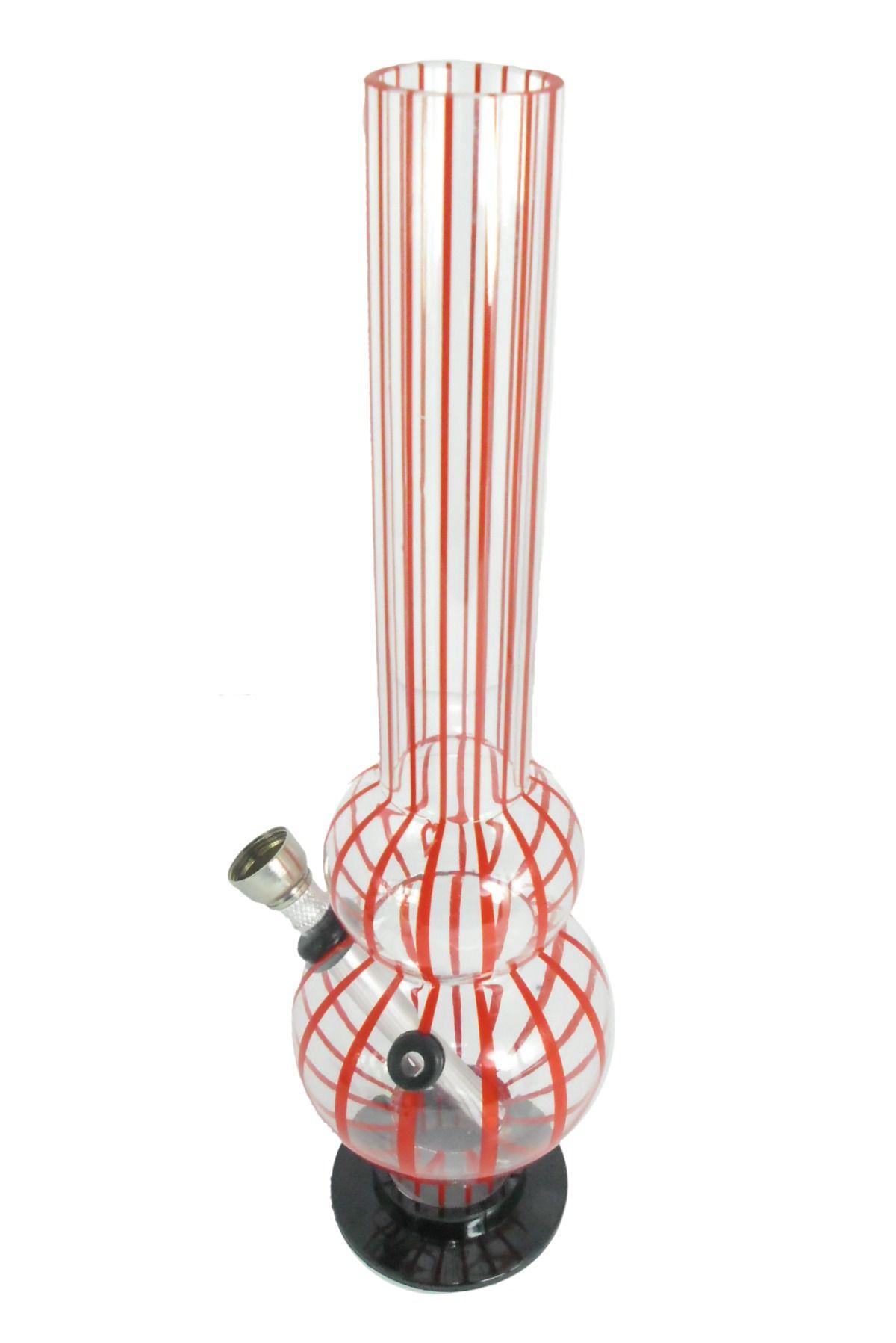 Bong de acrílico MD HOOKAH, MÉDIO 26cm, base removível. Estampas e cores diversas.