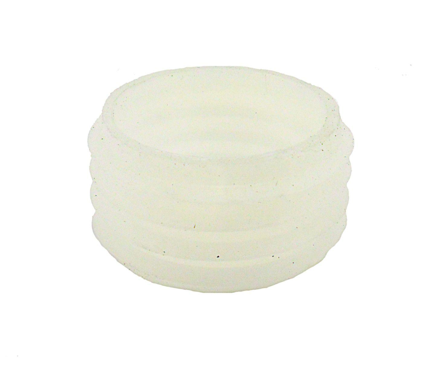 """Borracha / Vedação para vaso/base de encaixe tipo """"macho"""", em silicone, 2,5cm de altura."""