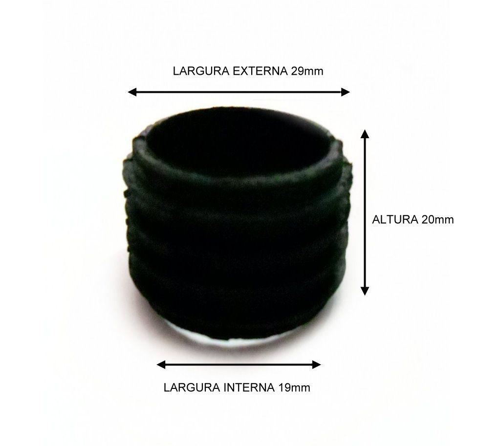 Borracha / Vedação para vaso/base em latéx preta. Modelo para gargalos extra finos.