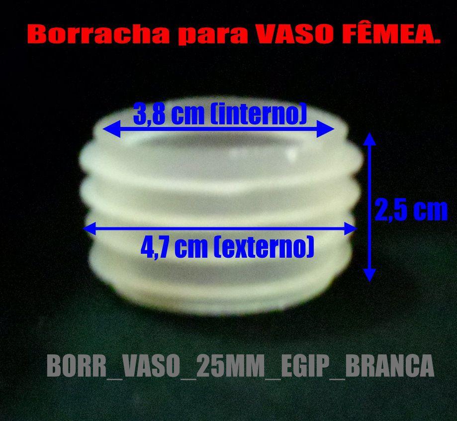 Borracha / Vedação para vaso egípcio G marca Monte Verde. Em silicone 25mm. - BORR_VASO_25MM_EGIP_BRANCA