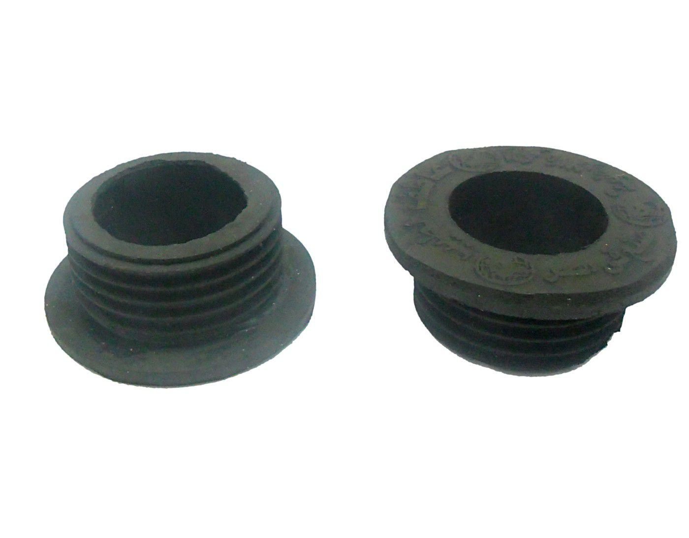 Borracha / Vedação para vasos GG em latéx preta. 2,7cm altura. Diâmetros: 4,8cm ext.X 3,5cm int