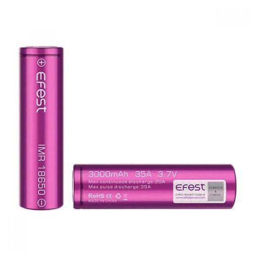 Caixa com duas (2) baterias Efest IMR 18650 (3000mAh) Li-Ion 35A - Efest
