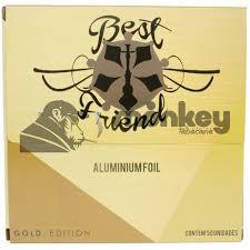 CAIXA de Folhas de Alumínio para narguile extra-grosso BEST FRIEND, corte quadrado, 50 unidades por caixa.