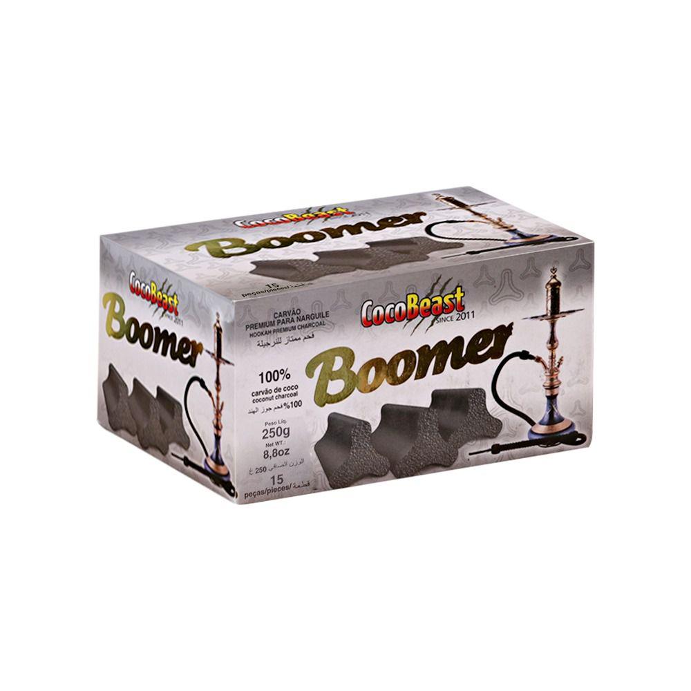 Carvão de coco para narguile e incenso COCO BEAST BOOMER 250g - 15 peças - triangular.