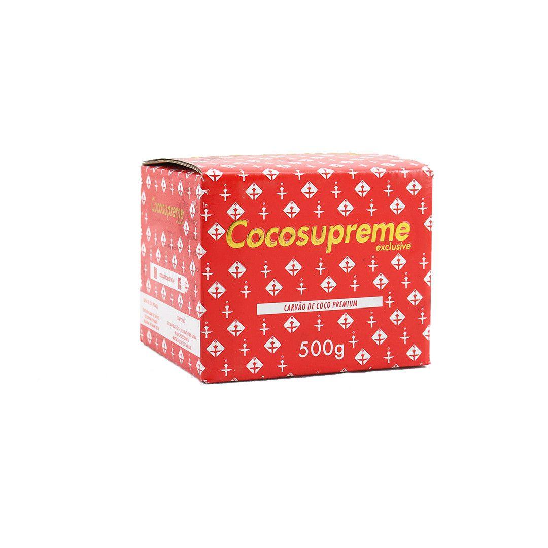 Carvão de coco para narguile e incenso COCO SUPREME - caixa 500gr, 30 unidades HEXAGONAL.