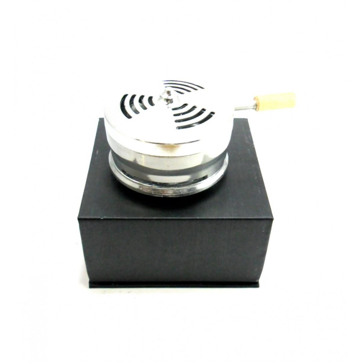 Controlador de calor LOTUS BOWL em alumínio, grande 4,0cm altura, 7,5cm diâmetro.