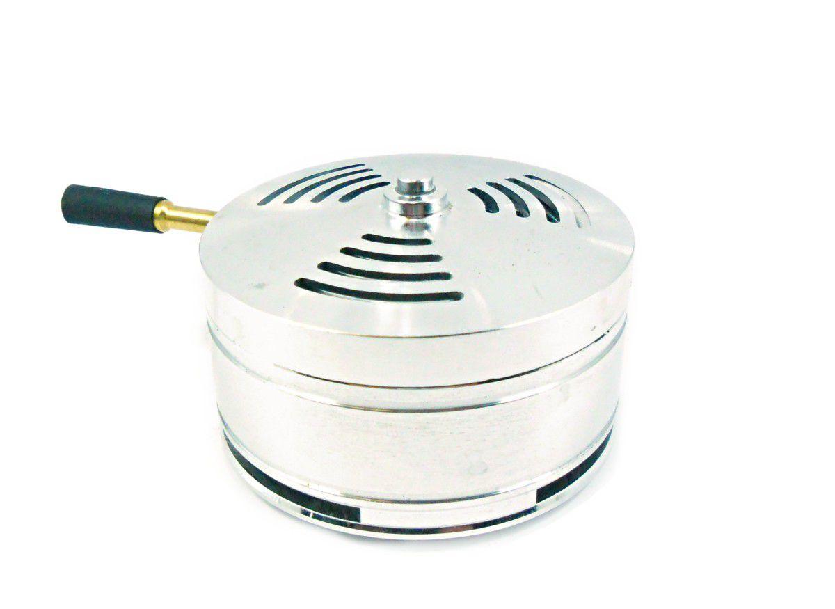 Controlador de calor MOON, grande, em alumínio usinado. 7,5cm de diâmetro