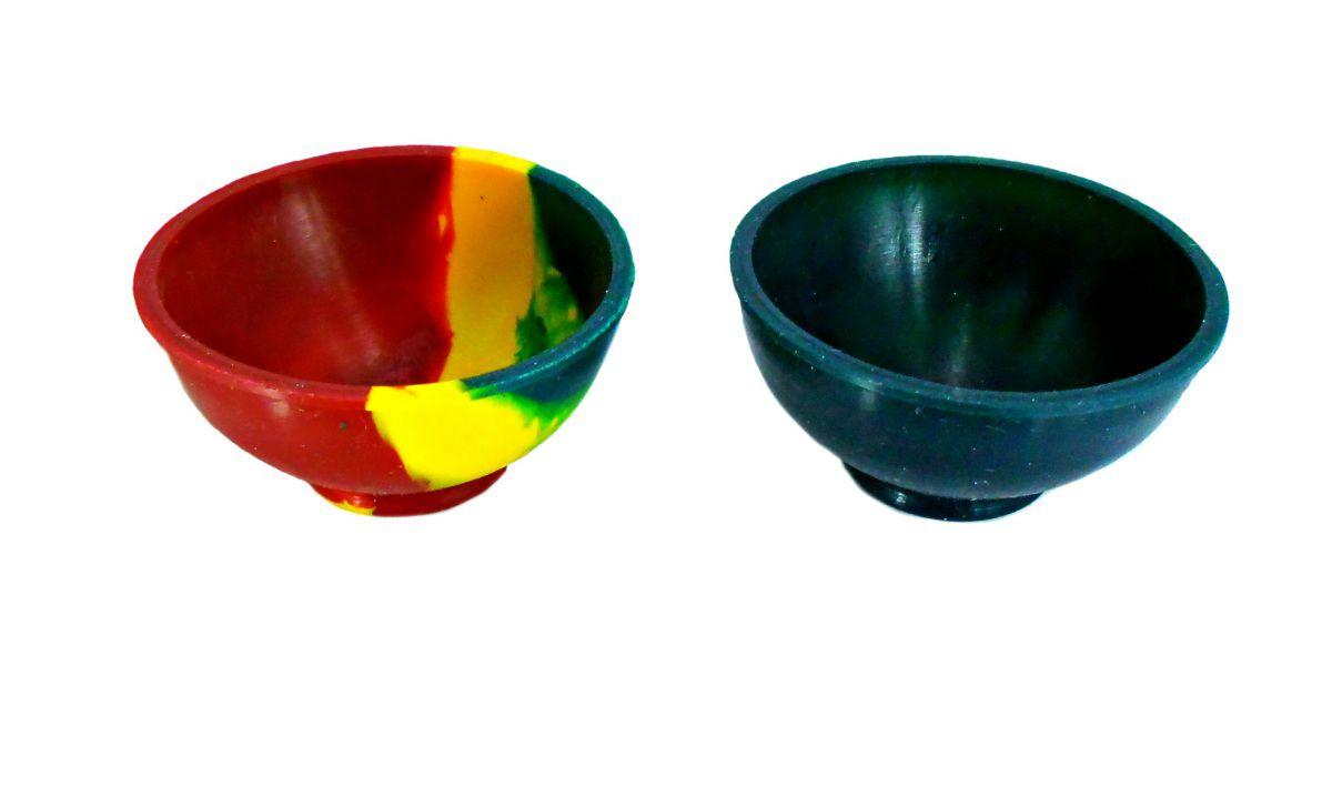 Cuia de silicone Slick p/mistura de ervas, resinas, óleos (hash oil). 30X65mm, NEW Rei do Narguile.