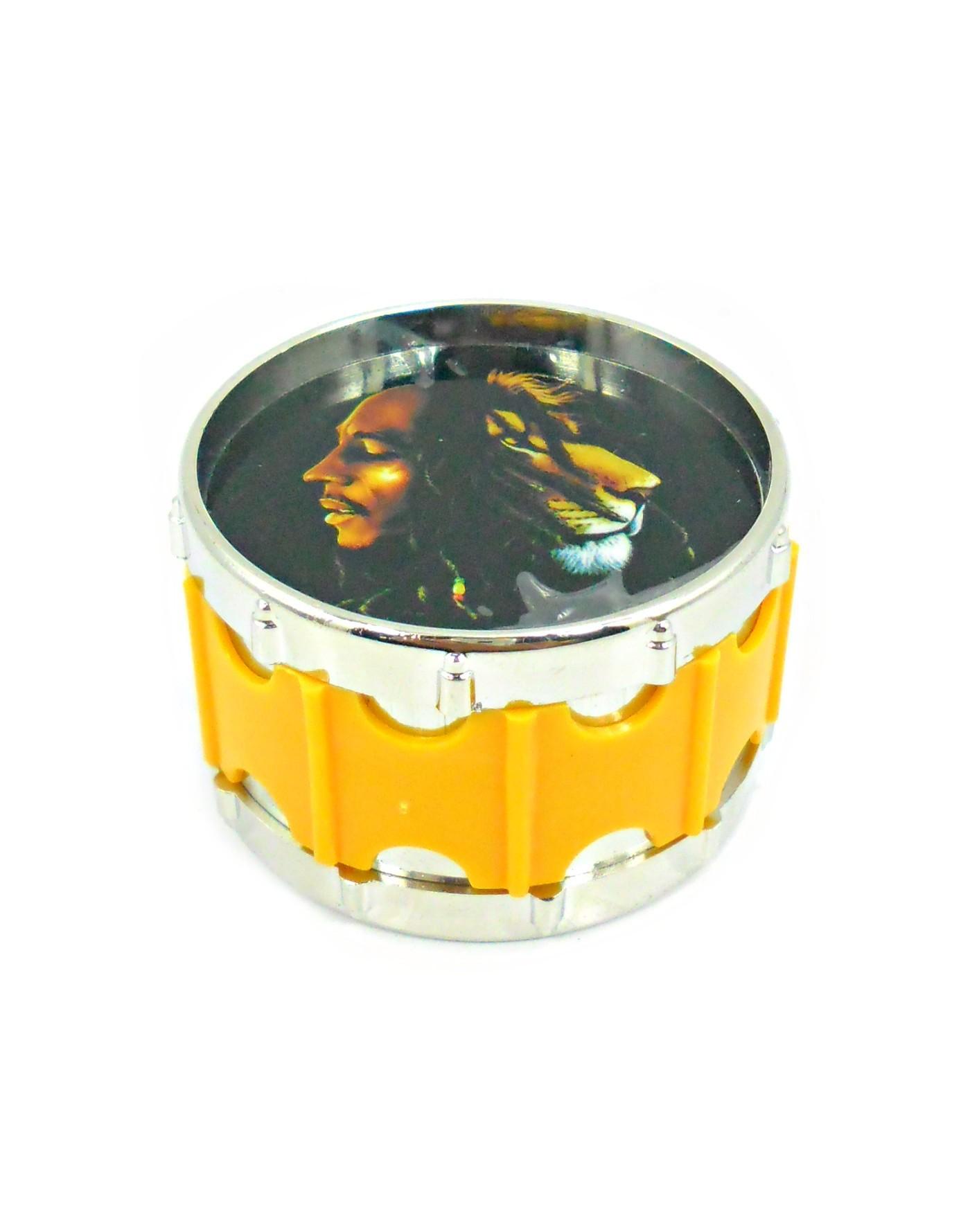 Desfiador / dichavador de tabaco de metal, GRANDE, decoração TAMBOR, MD HOOKAK