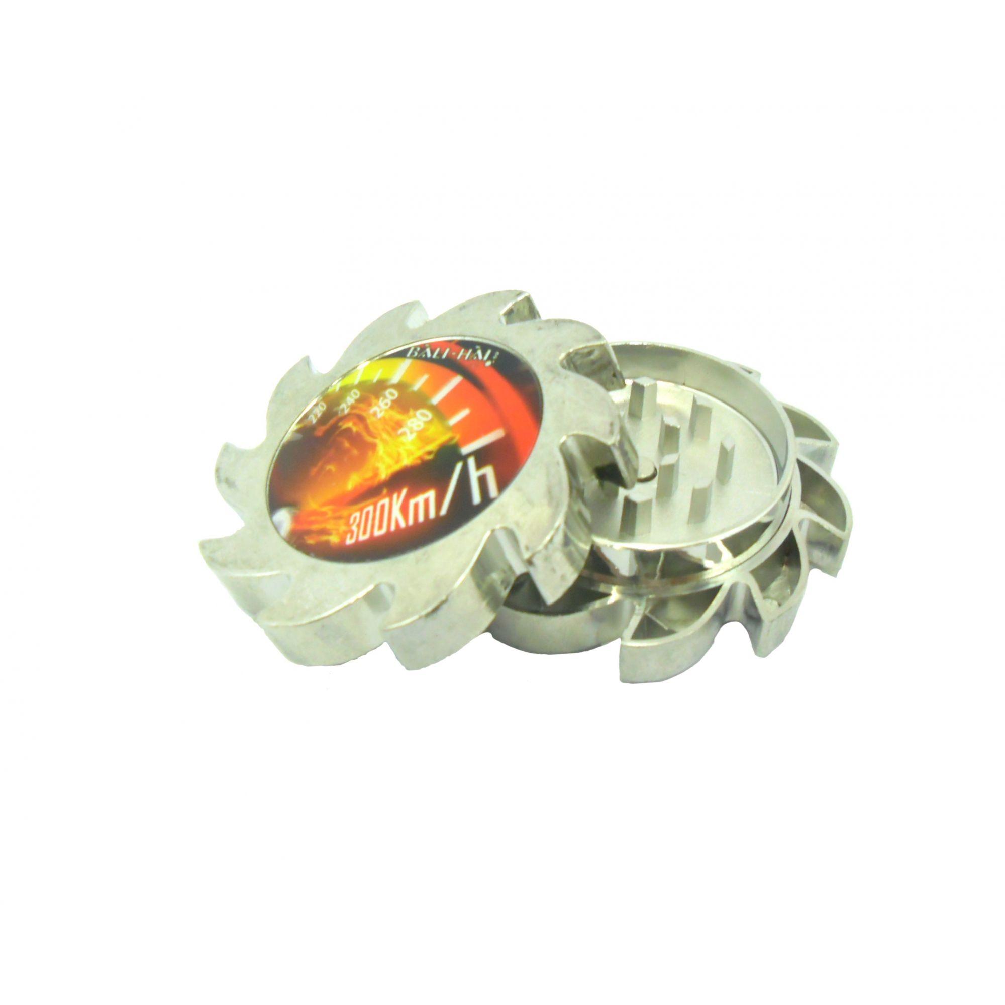 Desfiador / triturador / dichavador em alumínio com pintura anodizada/cromada. Marca Bali Hai.