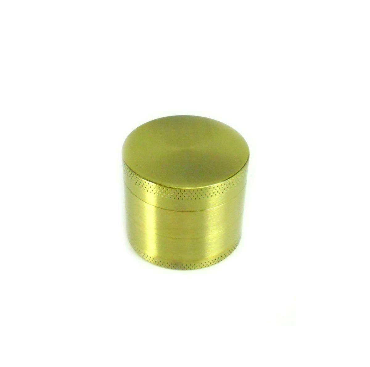 Dichavador/ Desfiador/ Triturador em metal, NEW MÉDIO trifásico (3,4cm. alt / 3,9cm diâm.) Ouro velho