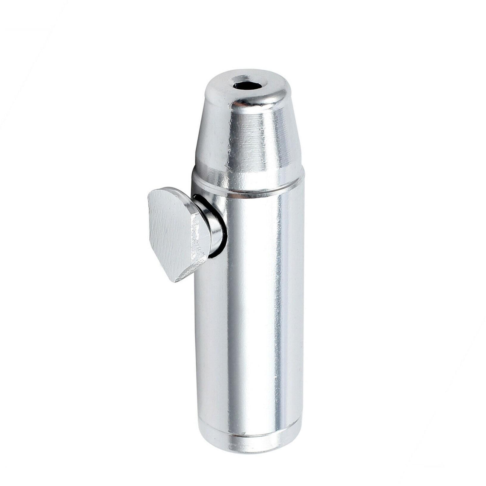 Dosador Snuff Bullet, inalador para rapé. Em Alumínio. 5,2cm de altura.