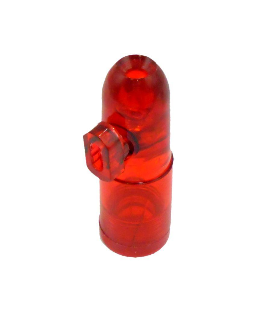 Dosador Snuff Bullet para rapé. Em ACRÍLICO. 5,0cm de altura.