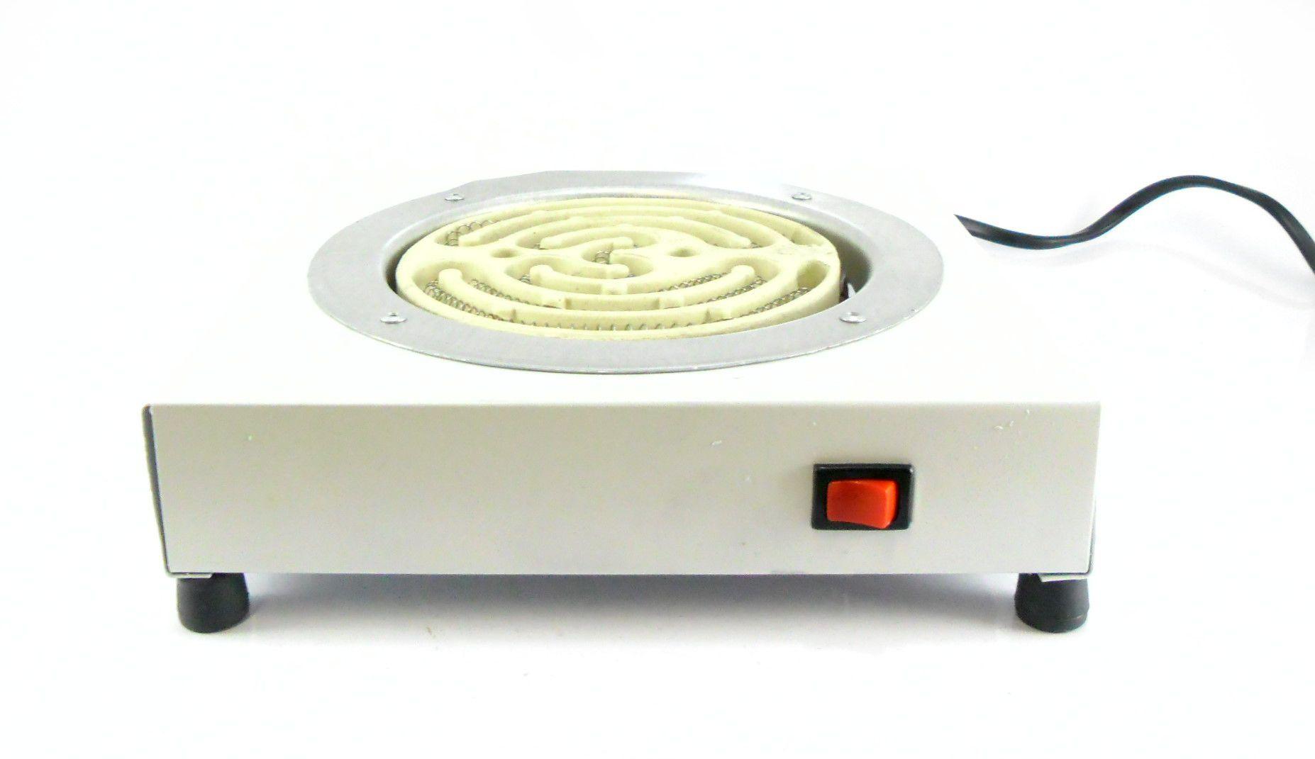Fogareiro elétrico para acender carvão Chamafil QUADRADO com BOTÃO DE LIGA/DESLIGA (220V)