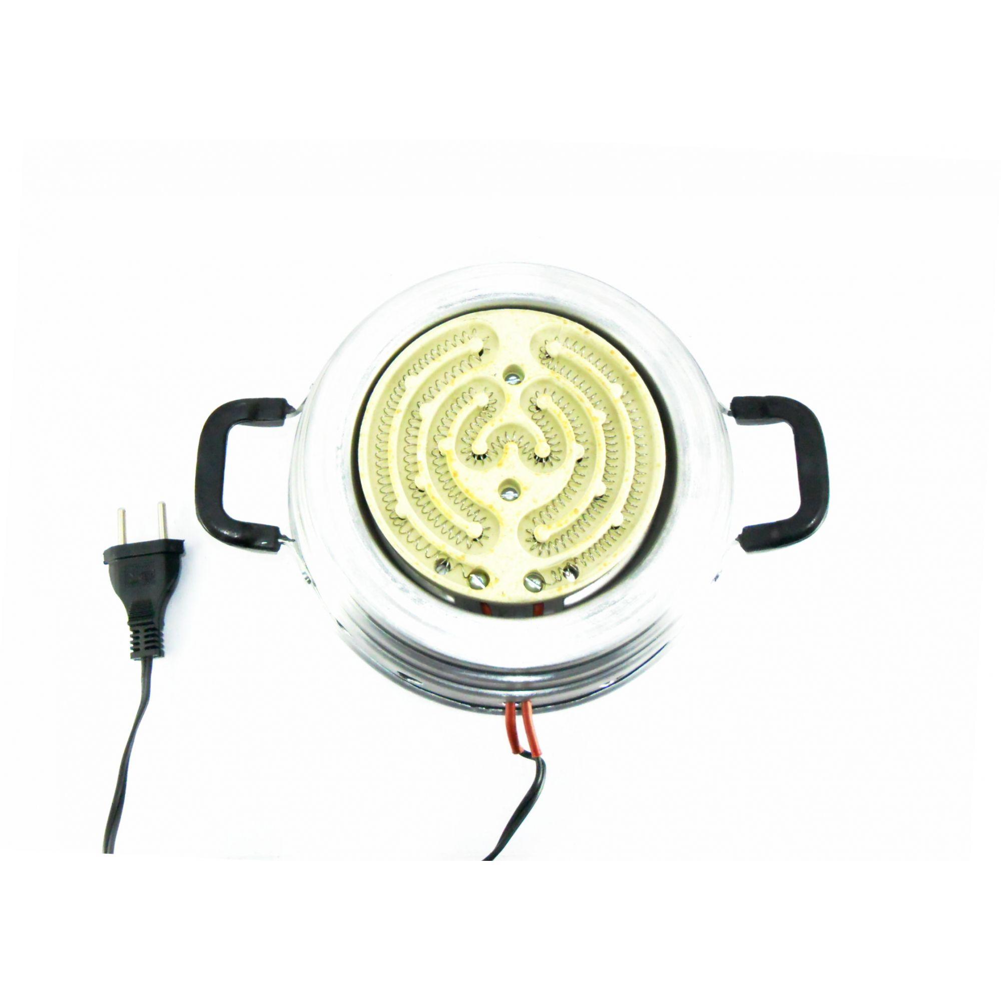 Fogareiro elétrico para acender carvão Chamafil REDONDO, com abas (127V ou 220V)