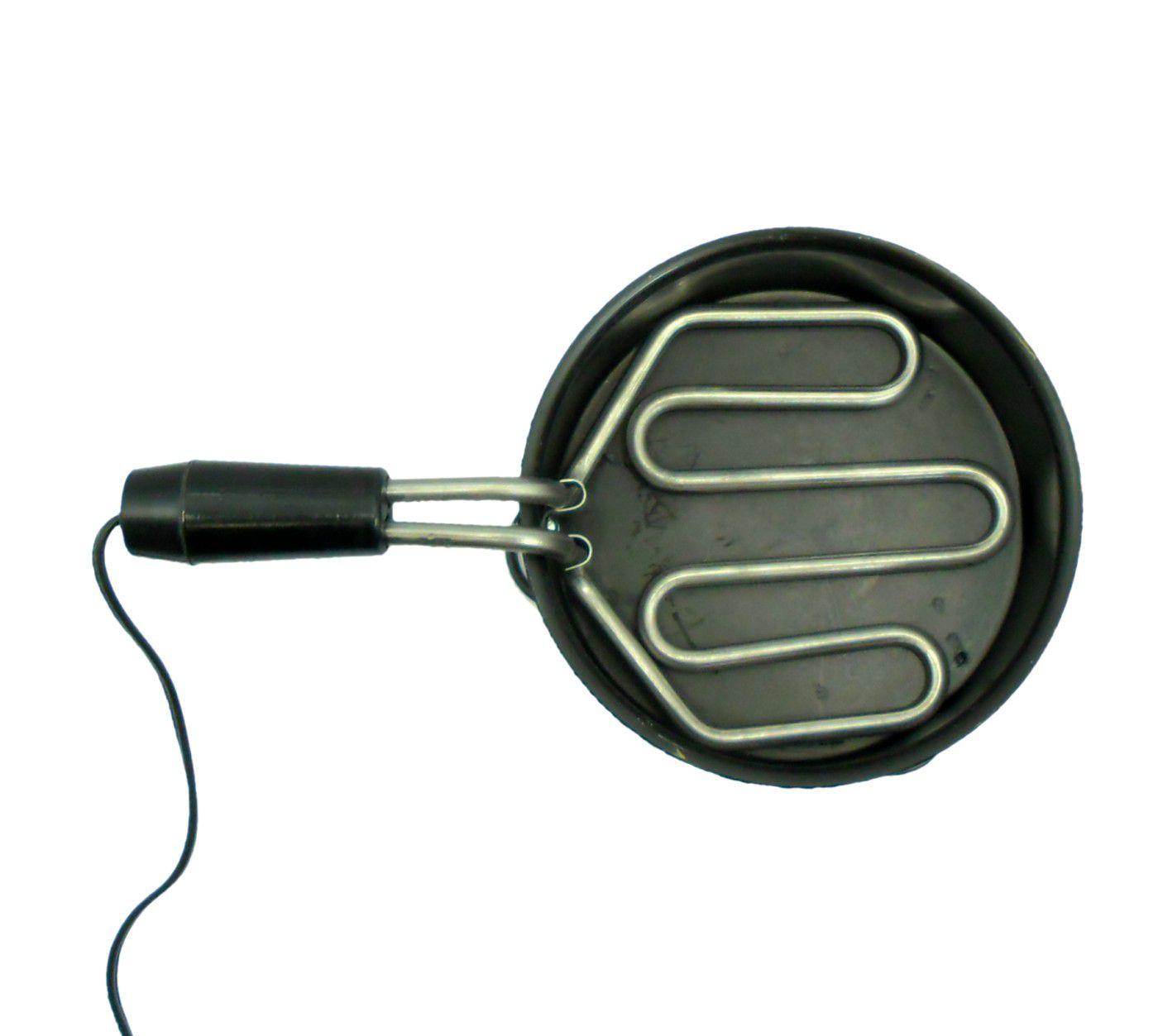 Fogareiro elétrico para acender carvão tipo panelinha GRANDE, resistência blindada 700W(127V ou 220V)
