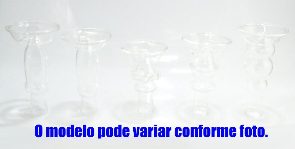 Fornilho/Rosh de Vidro Monte Verde, funil. 12cm altura (7,5cm diâmetro sup., 2,1cm encaixe inf.)