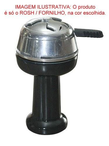 Fornilho/Rosh para narguile DORIA BOWL BRANCO tipo FUNIL (Phunnel), em cerâmica, 10cm de altura.