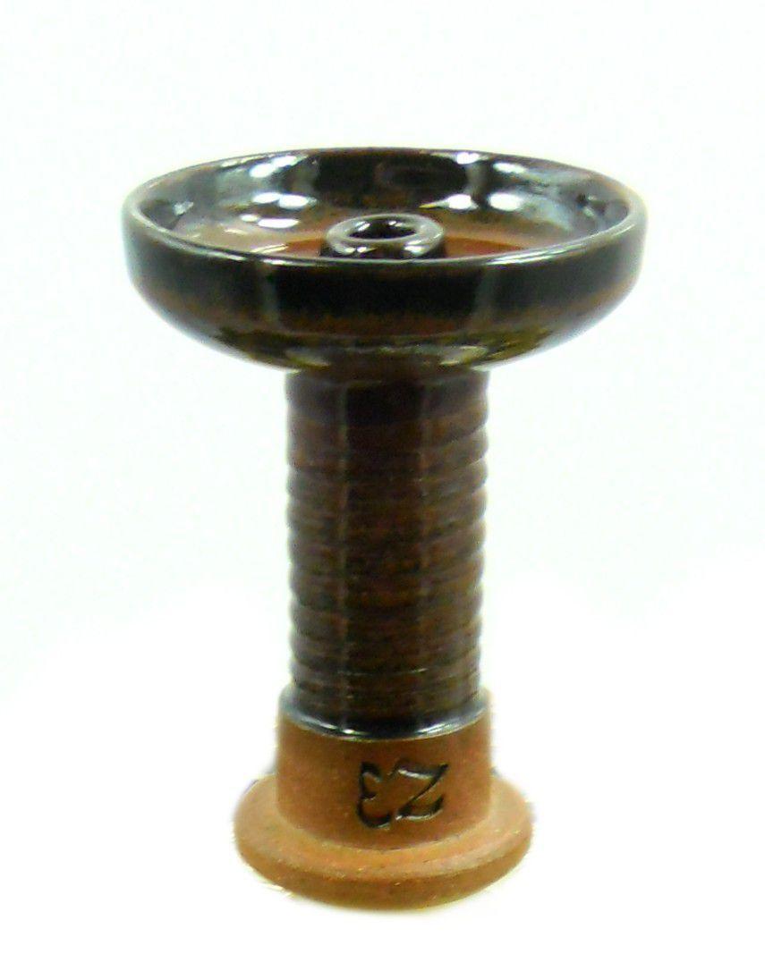 Fornilho/Rosh EZ Bowl MARROM em cerâmica refratária. 10,5cm altura, 7,4cm de bocal.
