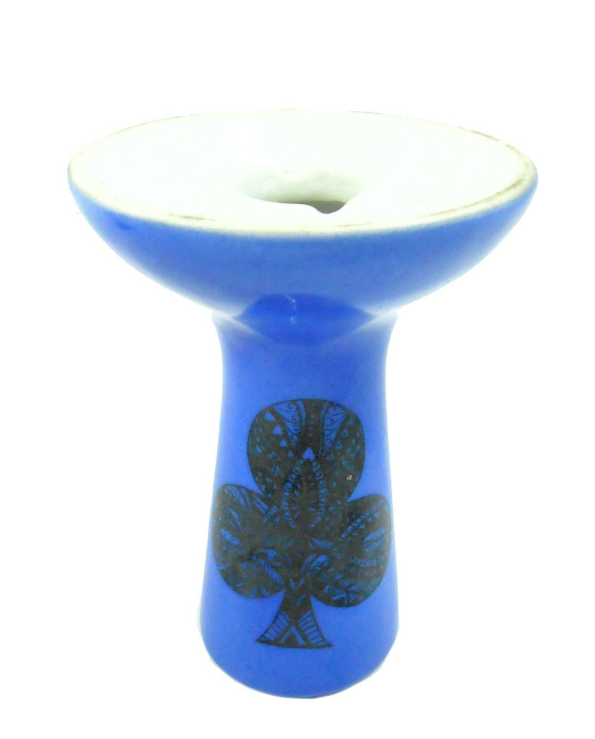 Fornilho/Rosh para narguile BHRAW Hookah/Dr.Ed (funil) encaixe fêmea, pinturas especiais, 10,5cm. Azul