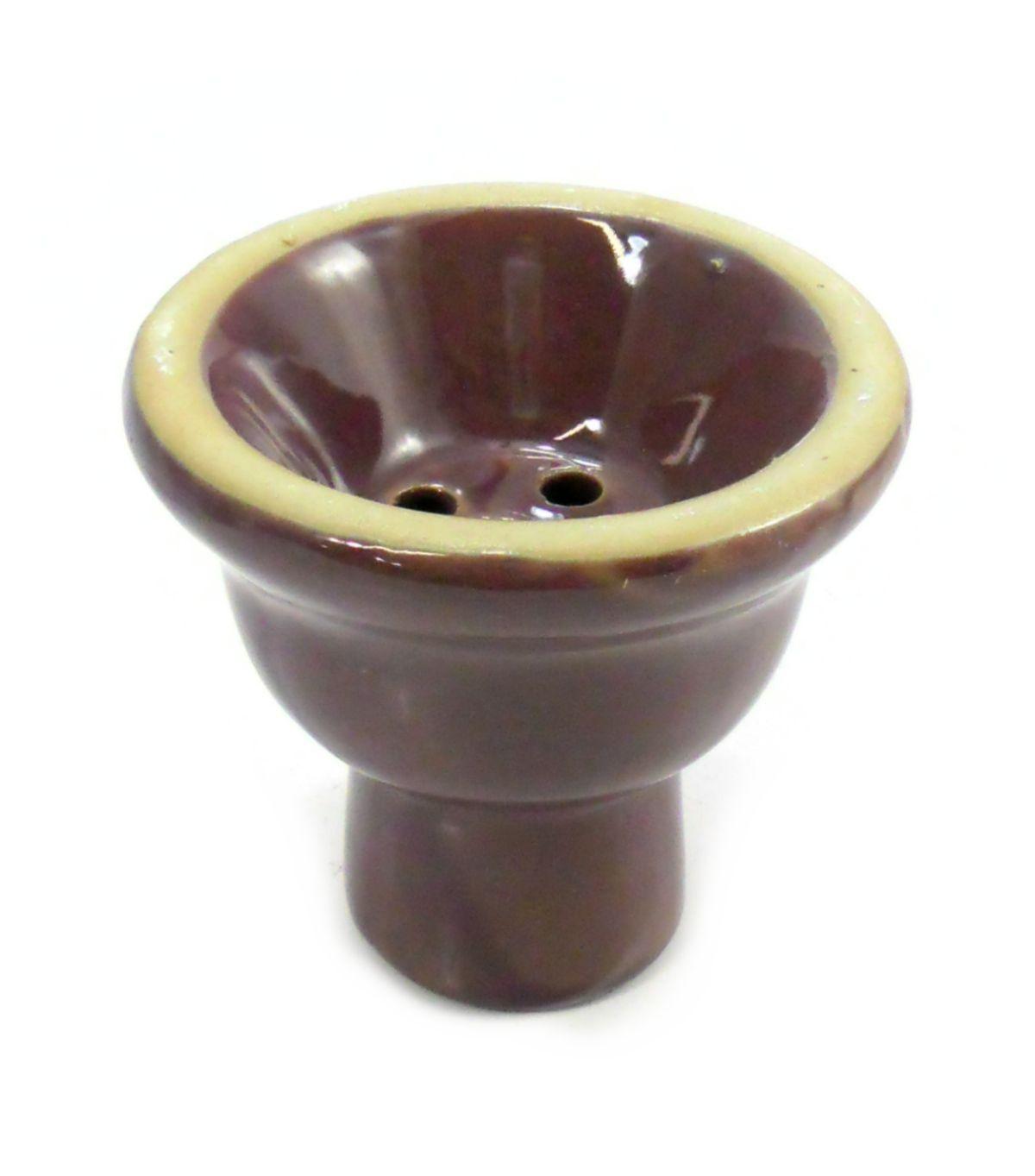 Fornilho/Rosh para narguile, em cerâmica, modelo tradicional (5 furos). 6,0cm alt., 6,0cm de diâm. Lilás