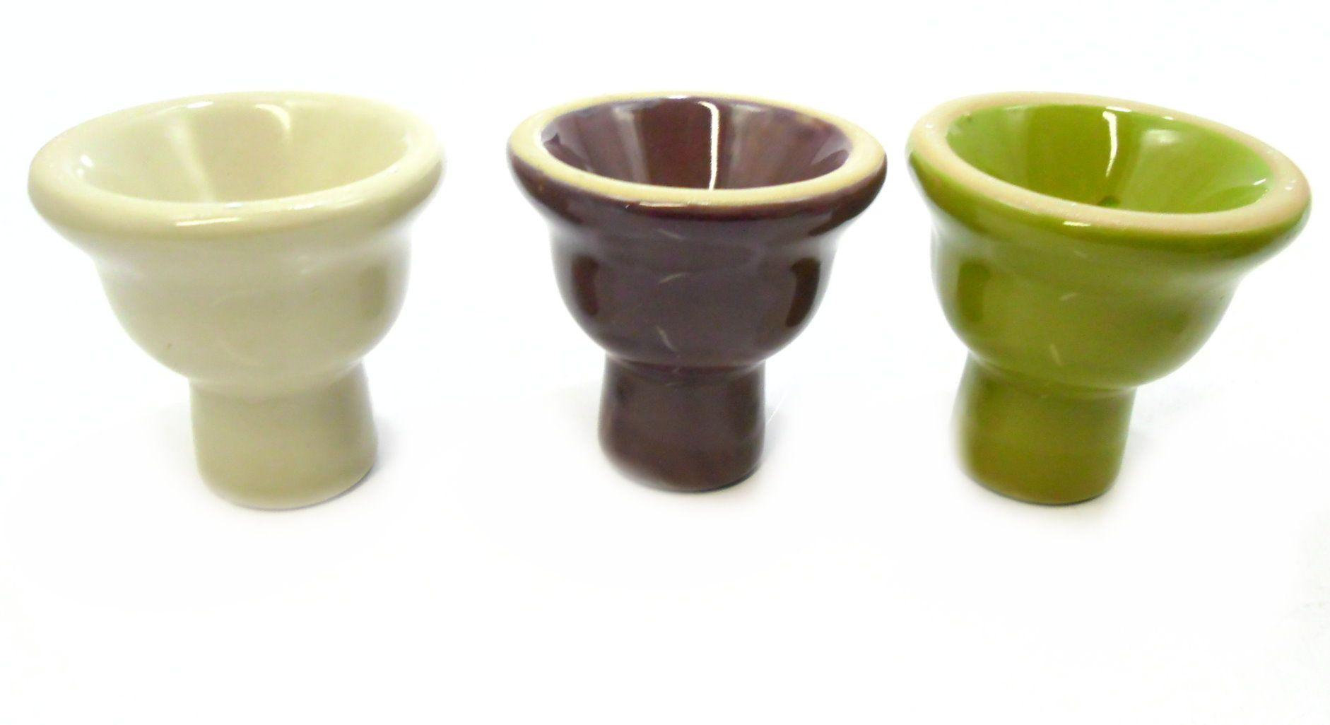 Fornilho/Rosh para narguile, em cerâmica, modelo tradicional (5 furos). PEQUENO, 6,0 cm.