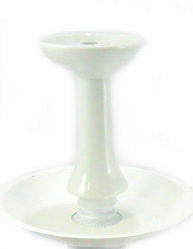 Fornilho/Rosh para narguile FLUX BOWL BRANCO tipo FUNIL (Phunnel), em cerâmica, 10,5cm de altura. Branco