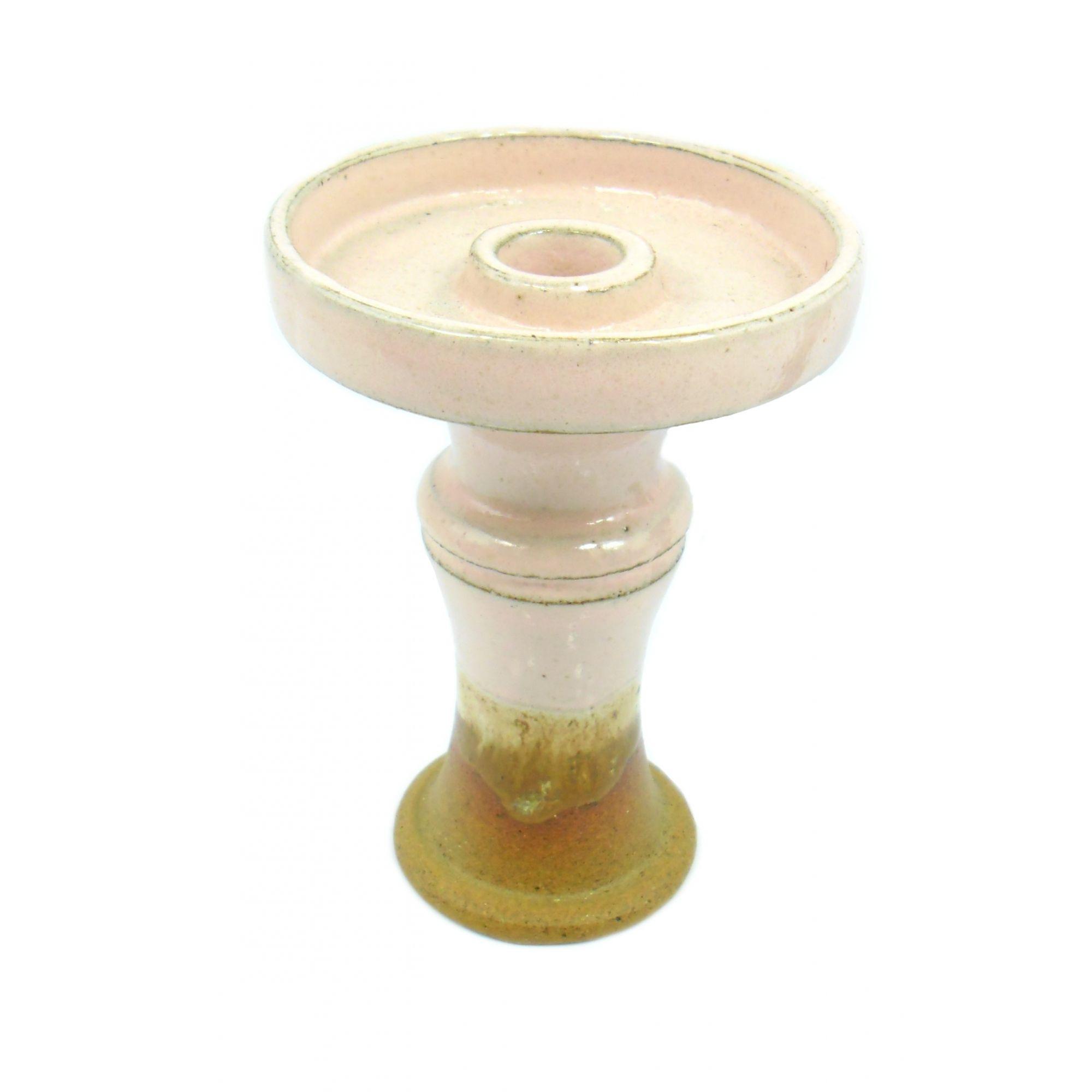 Fornilho/Rosh para narguile Mahalla Invoke (funil) encaixe fêmea,refratário,pintura artística 10,5cm Rosa e marrom