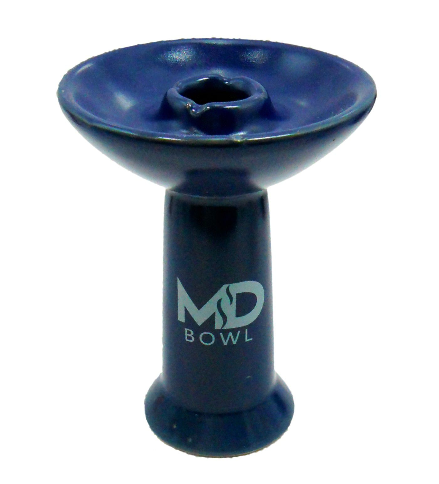 Fornilho/Rosh para narguile MD BOWL tipo funil. Marca MD Hookah. Altura 11cm. Encaixe padrão Kaloud.