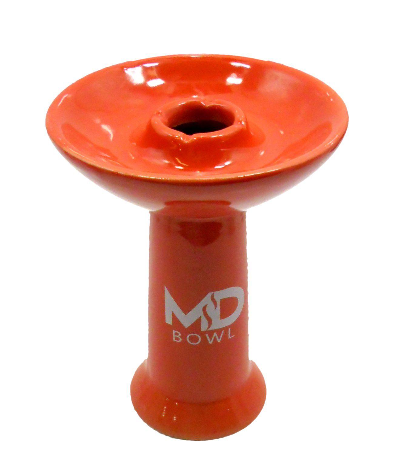 Fornilho/Rosh para narguile MD BOWL tipo funil. Marca MD Hookah. Altura 11cm. Encaixe padrão Kaloud. Vermelho