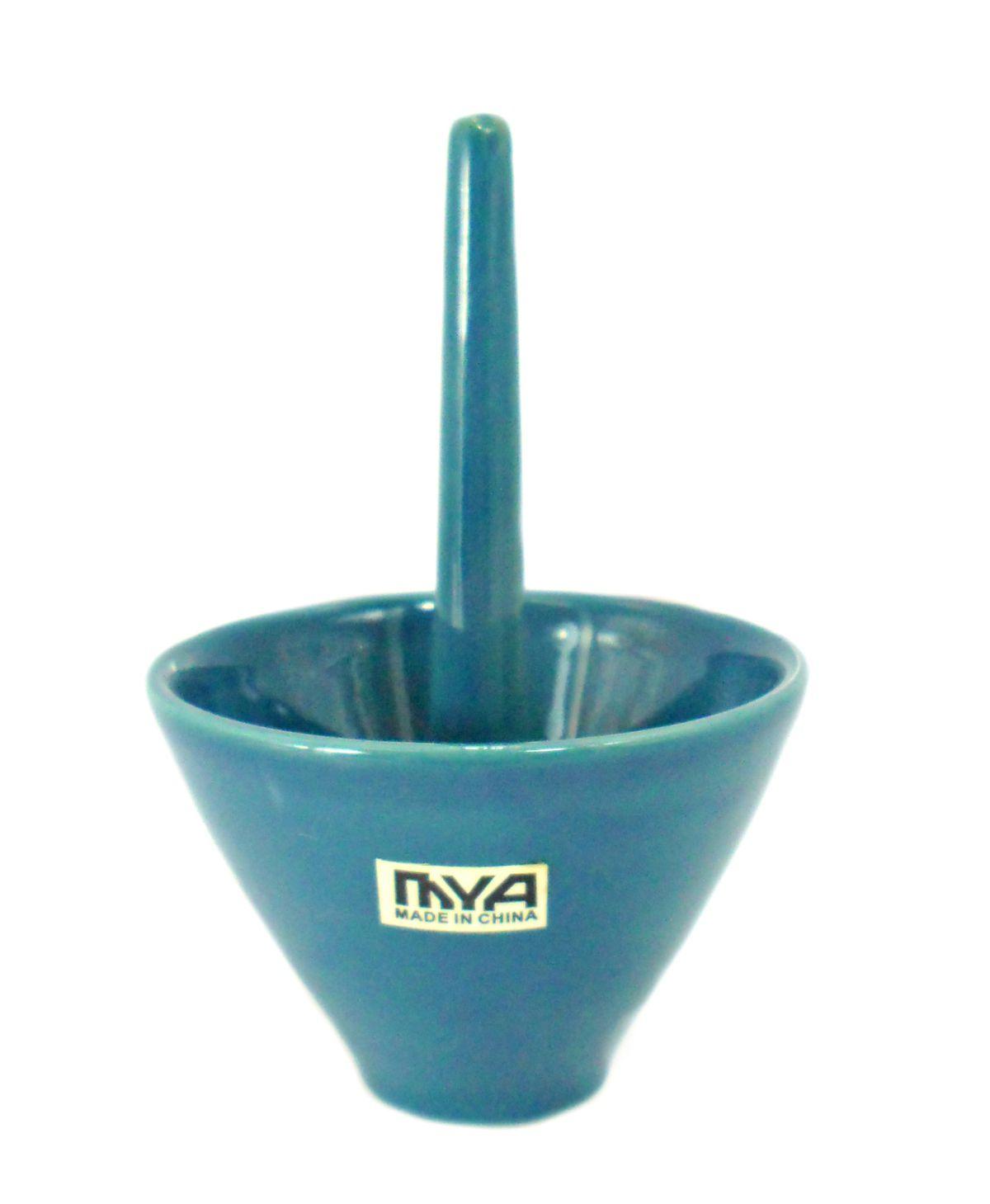 Fornilho/Rosh para narguile Mya Mozza. 9,0cm alt., 6,6cm diâm. Azul Claro