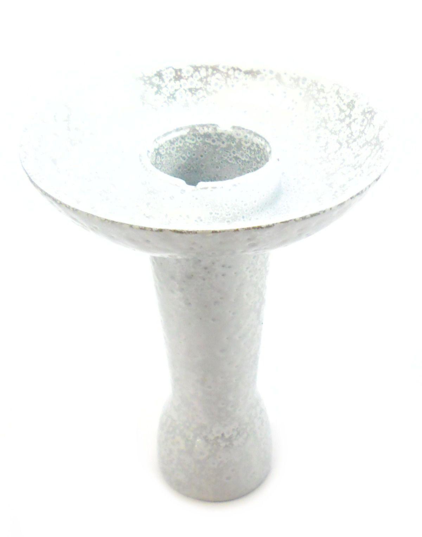 Fornilho/Rosh para narguile tipo FUNIL(Phunnel), marca Ranny, em ALUMÍNIO, 10,5cm altura. Branco Martelado