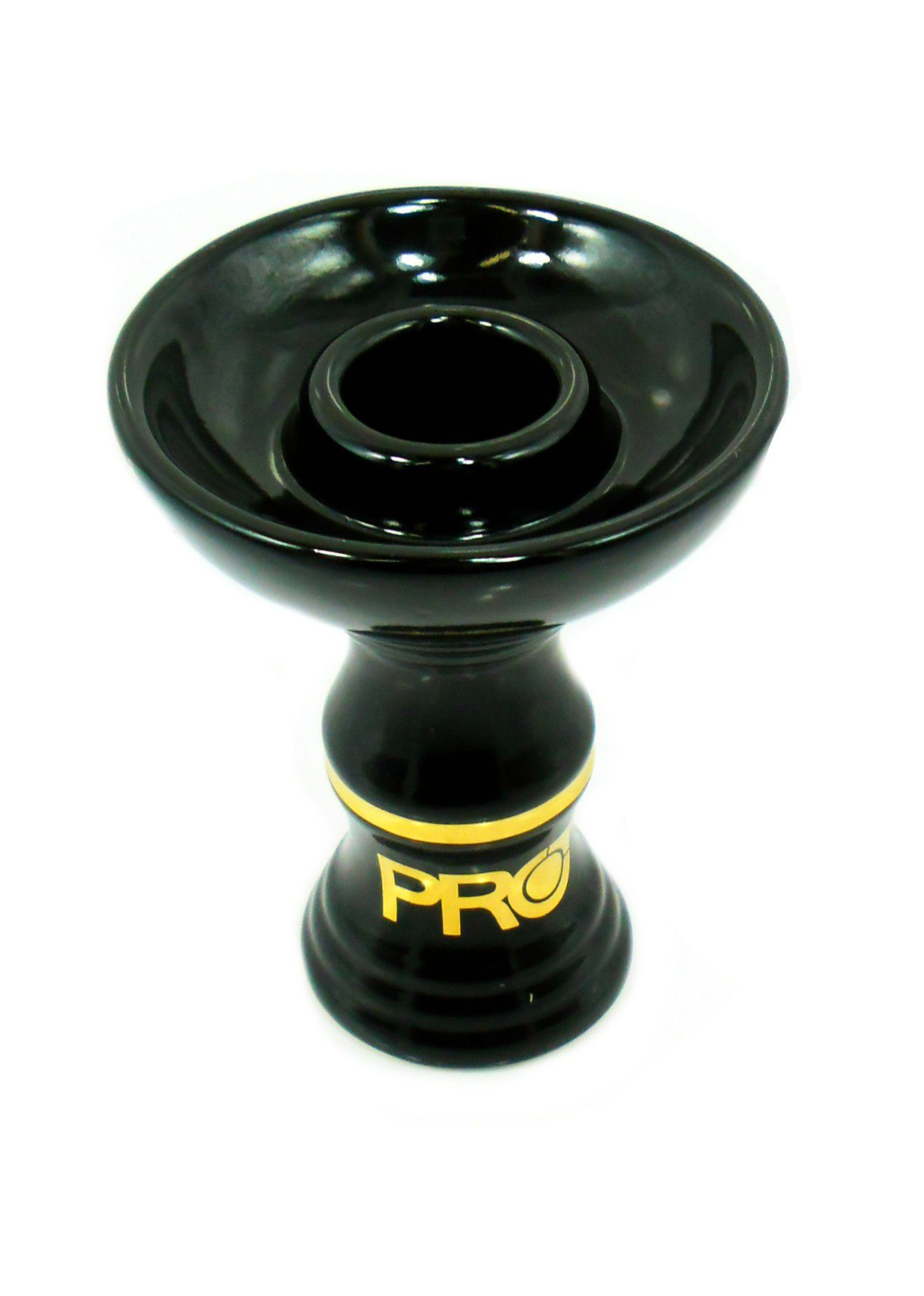 Fornilho/Rosh para narguile tipo FUNIL(Phunnel) Pro Hookah Intense GOLD, cerâmica refratária, 10cm.