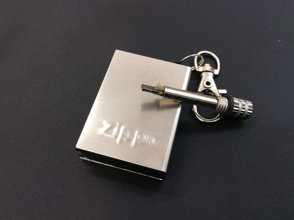 Fósforo original Zippo, com chaveiro, 8cm.