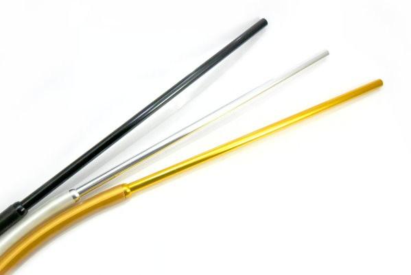 Mangueira de silicone antichamas DOURADO c/piteira de alumínio Slim (fina) na cor DOURADO. 2 metros.