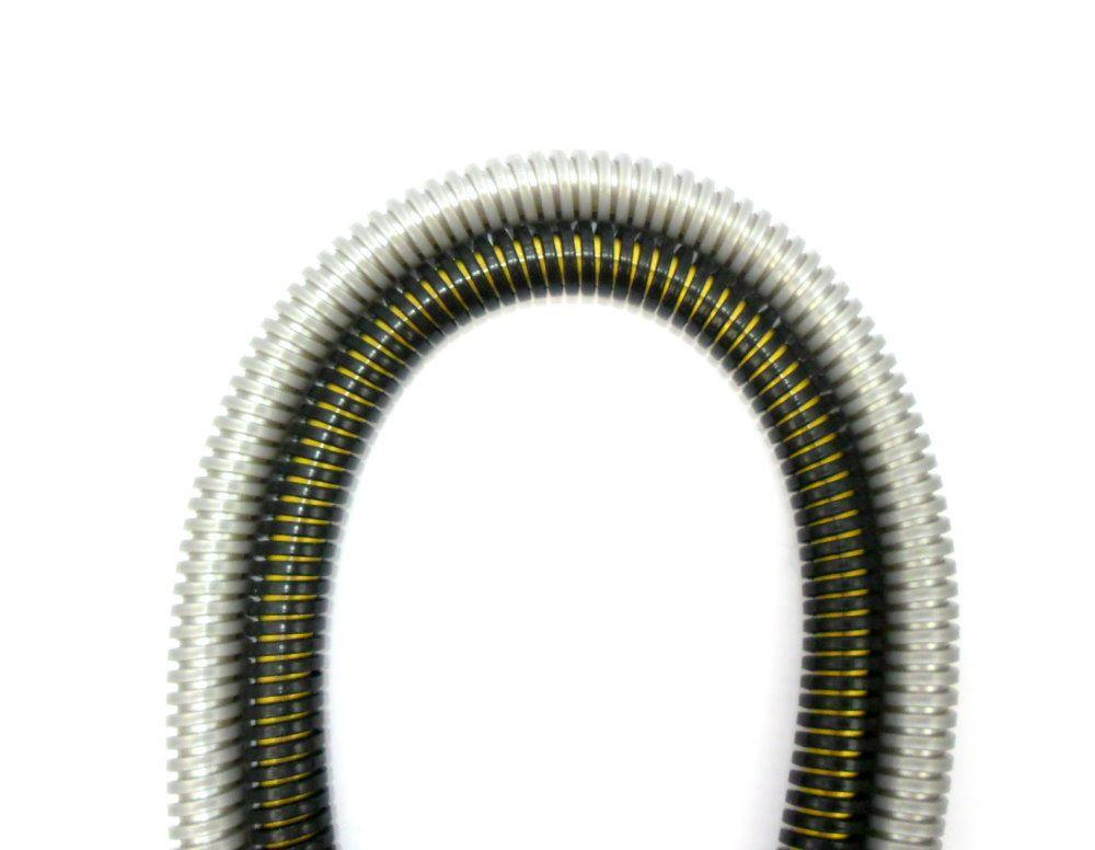 Mangueira p/narguile Helix, marca Hookah King, em silicone antichamas com espiral externa. 1,65m.