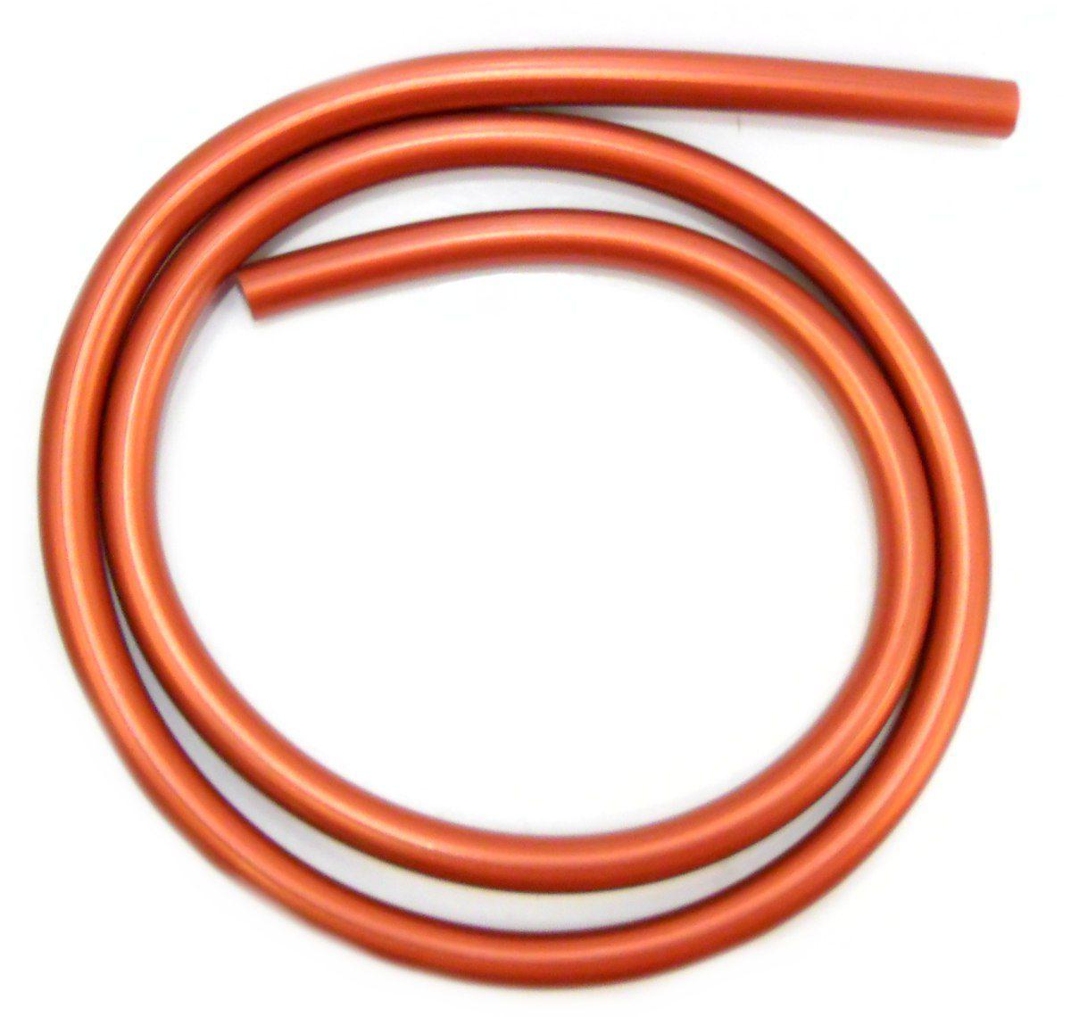 Mangueira p/narguile em silicone antichamas super flexível e leve. Encaixa todas as piteiras. 1,60m. Cobre