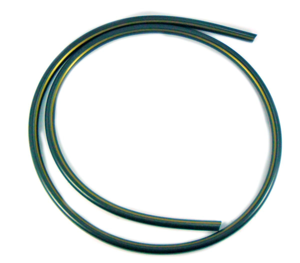 Mangueira p/narguile em silicone antichamas super flexível e leve. Encaixa todas as piteiras. 1,60m. Preto listras doura