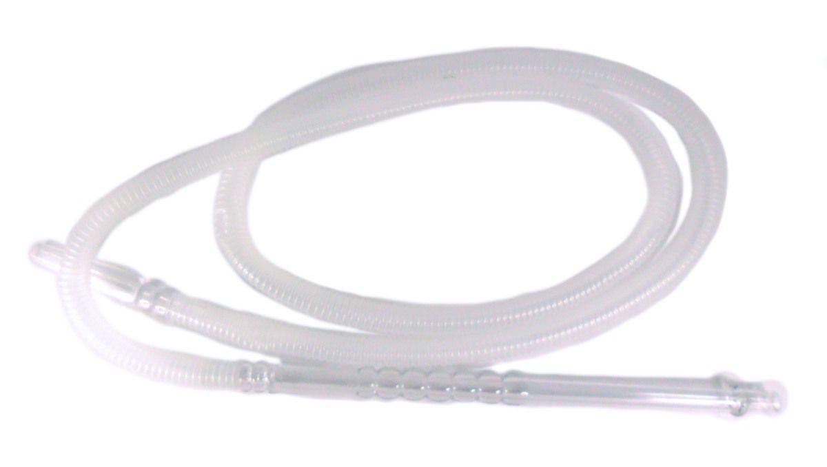 Mangueira p/narguile lavável MD HOSE BLACK, grossa, plástico corrugado preto ou transparente. 1,80m.
