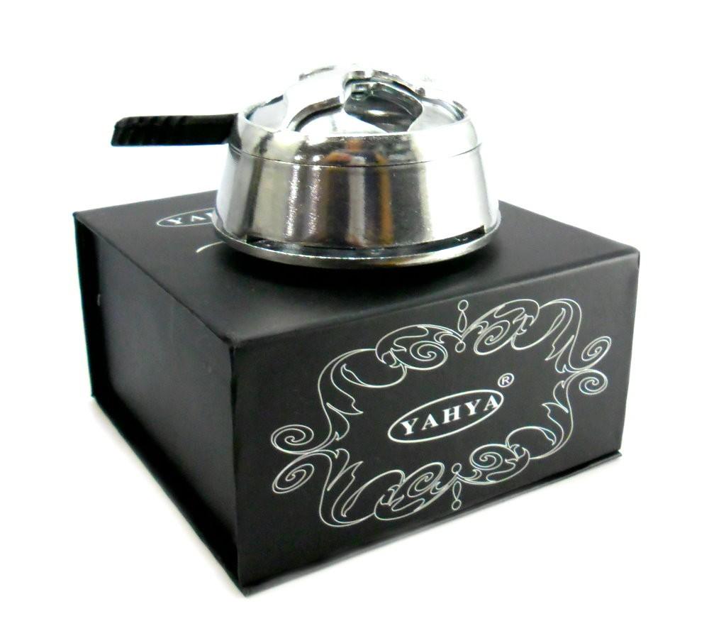 Narguile de alumínio, vaso Ball transp., rosh octa, kaloud, fogareiro e carvão 1kg.