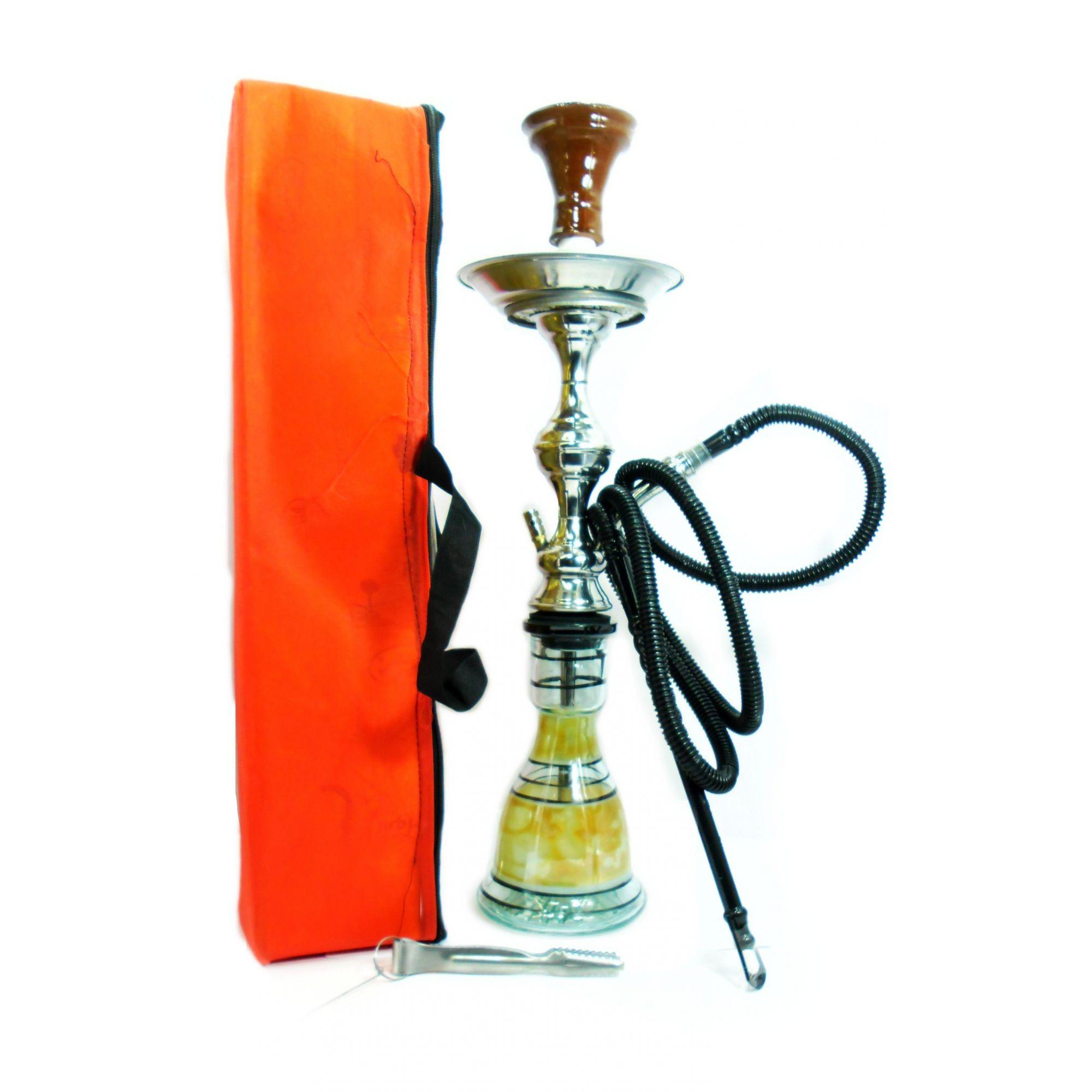 Narguile Egípcio 56cm. Kit com controlador de calor Yahya e fogareiro elétrico panelinha e carvão.