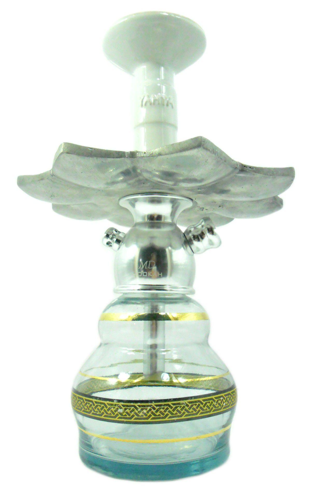 Narguile MD Hookah em alumínio maciço, vaso Double, mangueira lavável, prato El Nefes, rosh Yahya