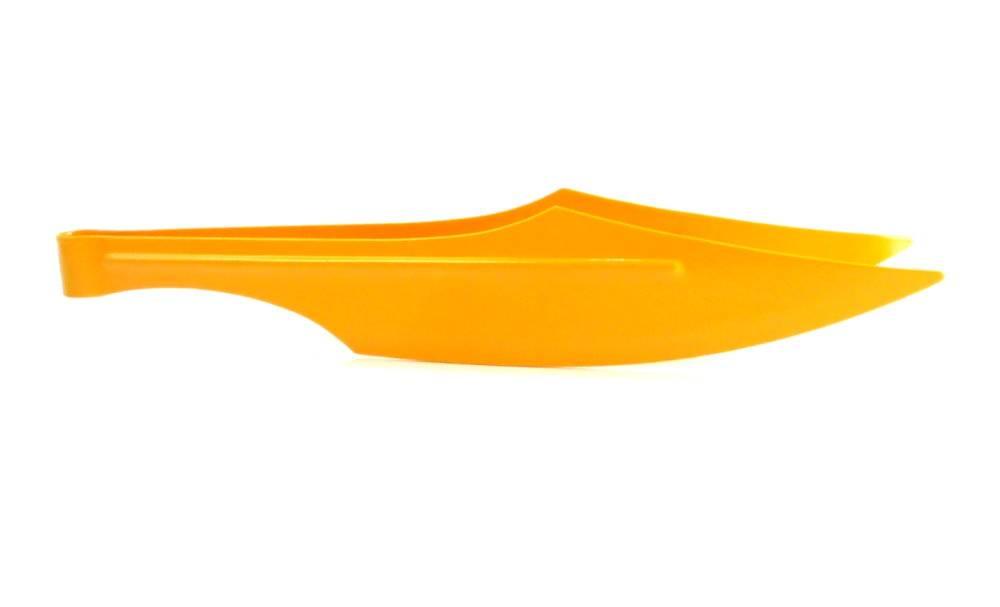 Pegador / pinça para carvão em metal MD HOOKAH ESPADA, extra-grande 27 cm. Amarelo