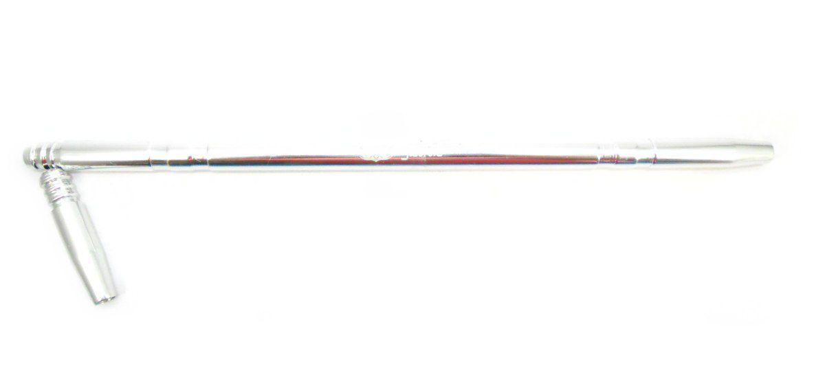 Piteira Judith p/mangueira de narguile, marca Ranny, 39cm, em alumínio pintura anodizada.