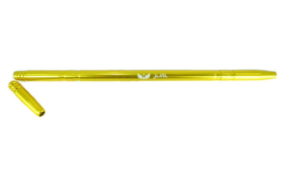 Piteira Judith p/mangueira de narguile, marca Ranny, 39cm, em alumínio pintura anodizada. Dourado