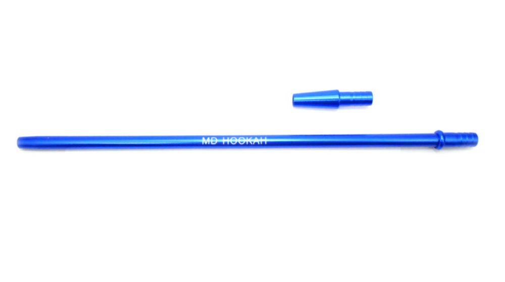 Piteira MD HOOKAH p/mangueira de narguile (+contrapiteira). Em alumínio, 40cm, fina (slim). Azul