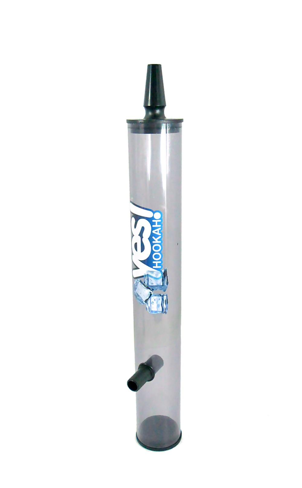 Piteira p/mangueira de narguile YES STRONG ICE para GELAR A FUMAÇA (coloque gelo), acrílico translúcido. 35cm.