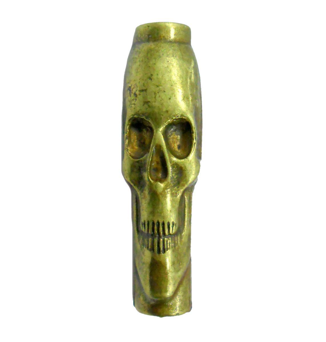 Piteira para cigarro/seda em metal MARICA, decorada com desenhos em relevo.