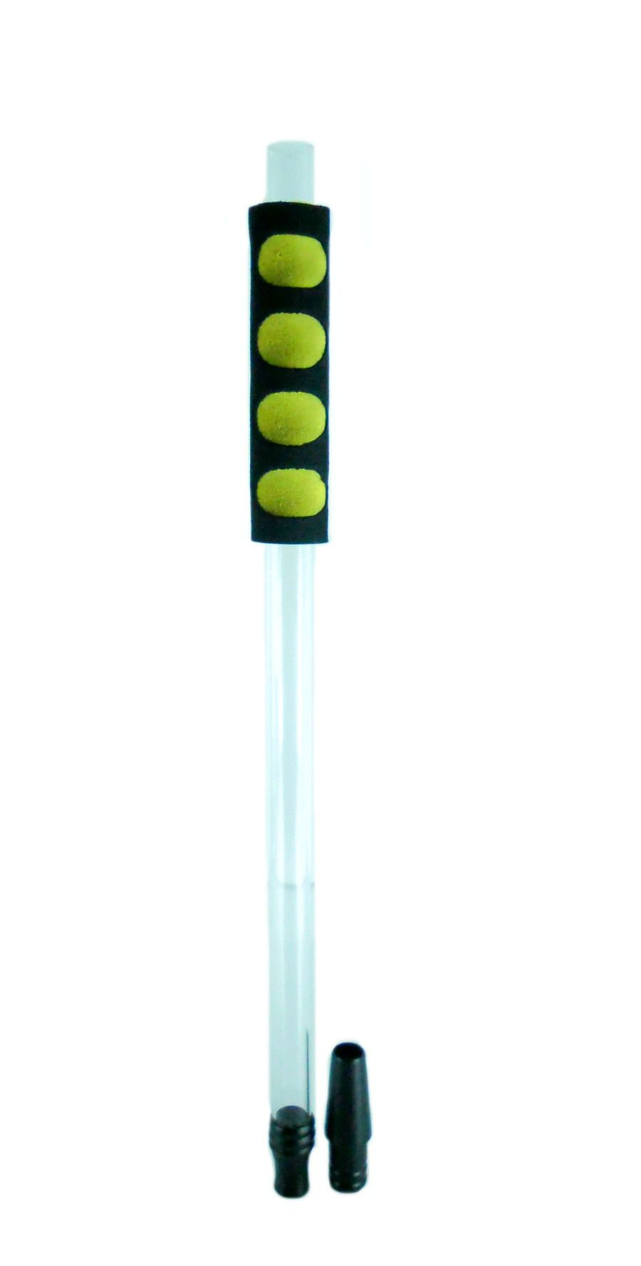 Piteira Yahya para mangueira de narguile. Fabricado em alumínio, acrílico e PS. Modelo NR251.02 Preta