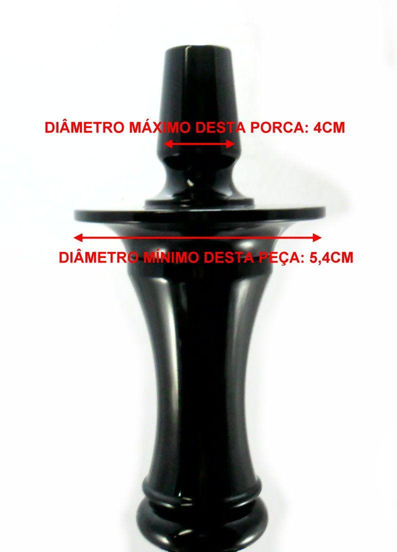 Prato para narguile mod. Athenas 23cm em liga metálica inox e decorado. Cor DOURADO centro CROMADO.